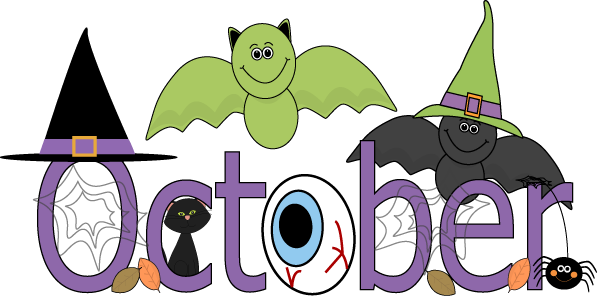 597x296 Month Of October Clipart