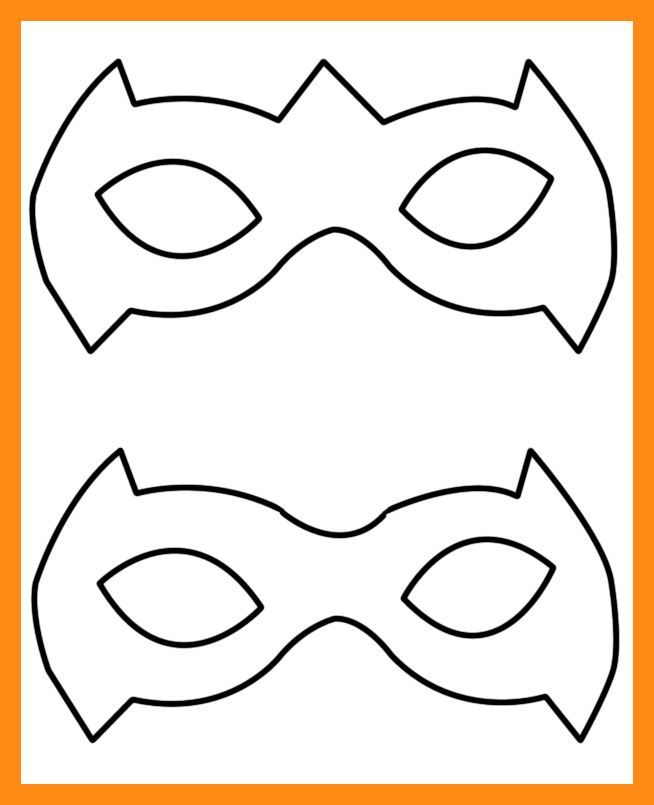654x805 Superhero Mask Templates Actor Resumed