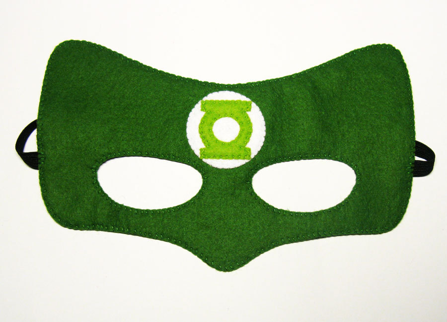 900x649 Green Lantern Superhero Mask Childrens Comic Costume By Feltfamily