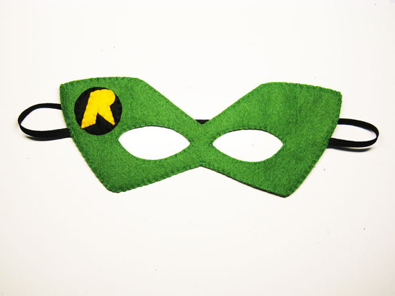 570x427 Robin Superhero Felt Mask 2 Years Adult Size Green