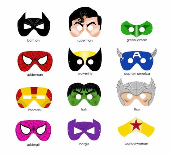 554x502 The Best Super Hero Masks Ideas Superhero Party
