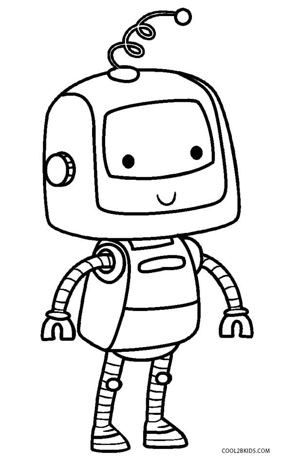 579x950 Free Printable Robot Coloring Pages For Kids Cool2bkids