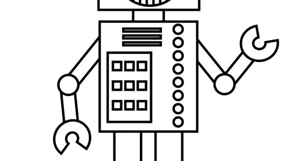 585x329 Free Printable Robot Coloring Pages For Kids Of To Print We Are