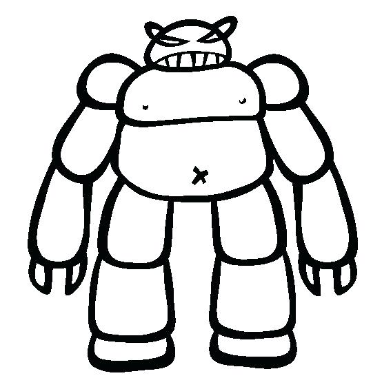 554x565 Free Robot Coloring Pages Printable