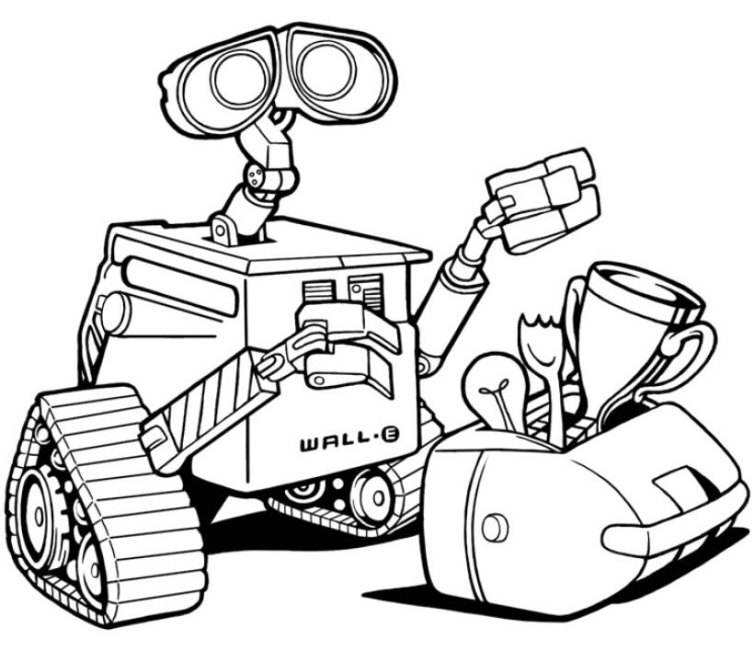 754x669 Fruity Robot Coloring Pages Allmadecine Weddings Robot