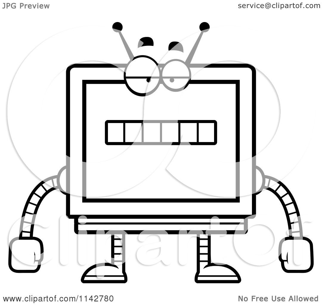1080x1024 Holiday Coloring Pages Robot Coloring Page
