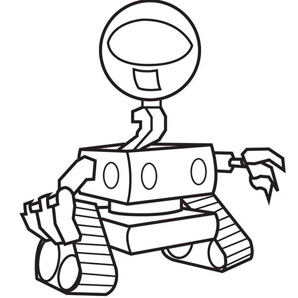 600x600 One Eyed Robot Coloring Pages Best Place To Color
