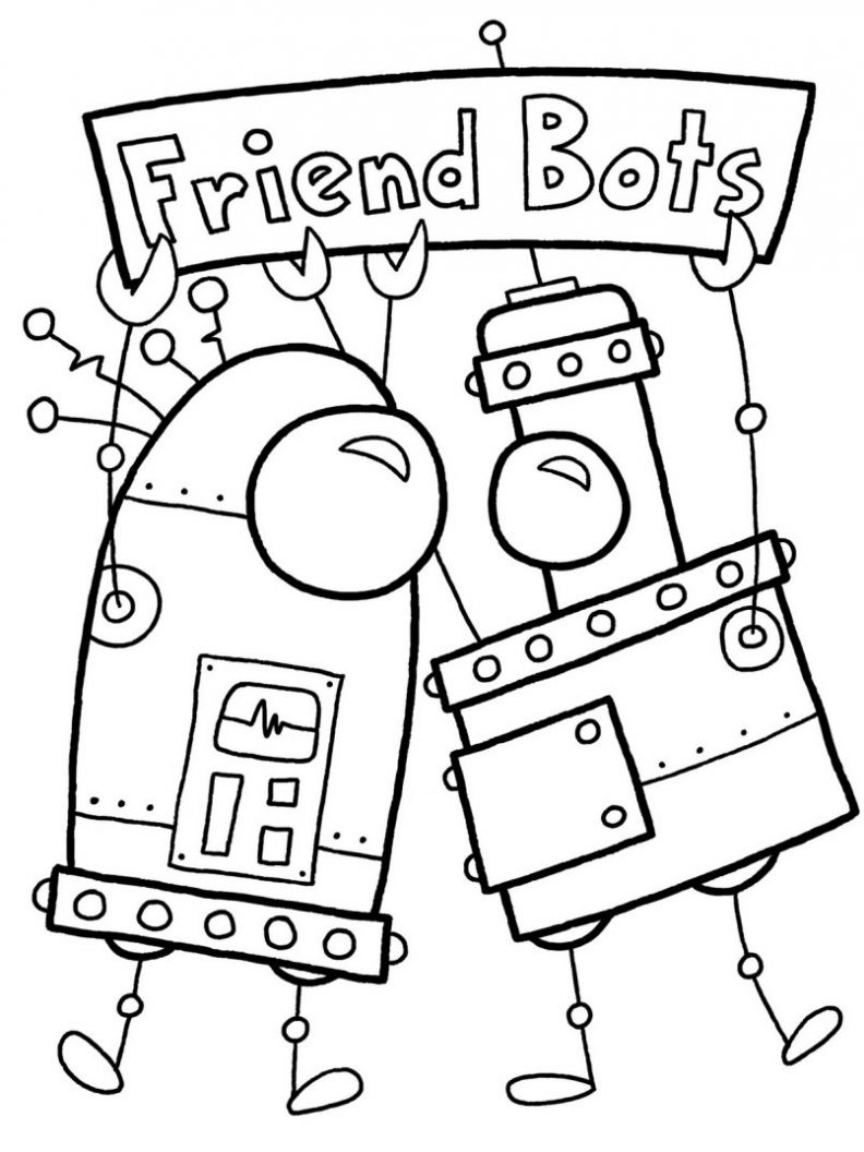 792x1056 Pretty Robot Coloring Pages 2 Page Robot Coloring Pages 2 S
