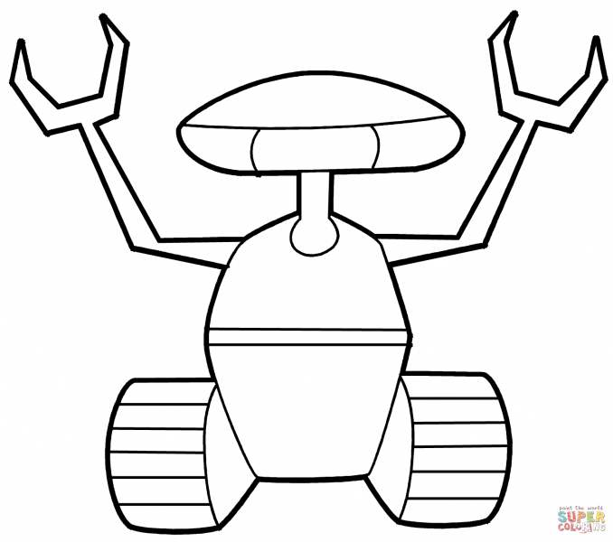 678x600 Robot Coloring Page Best Coloring Pages