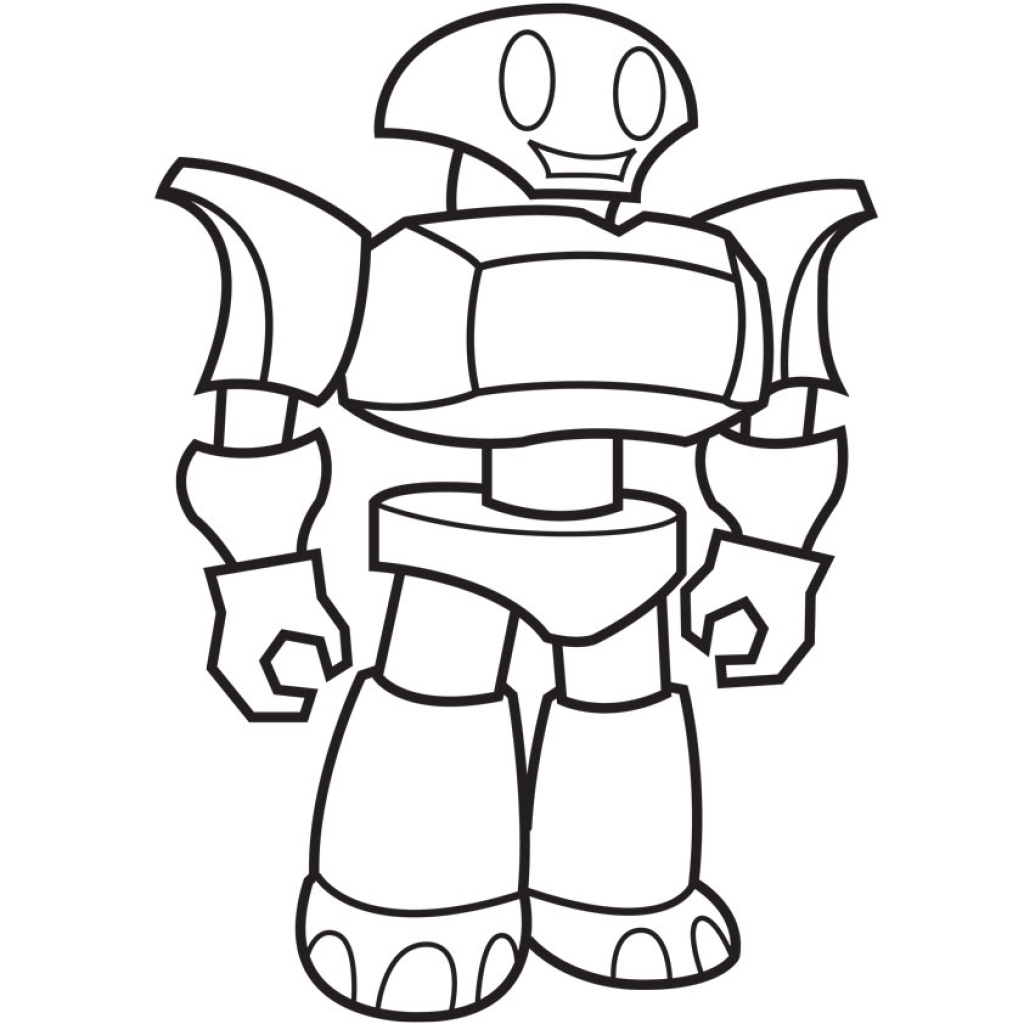 1024x1024 Robot Coloring Pages For Kids Coloringstar Pictures To Print Free