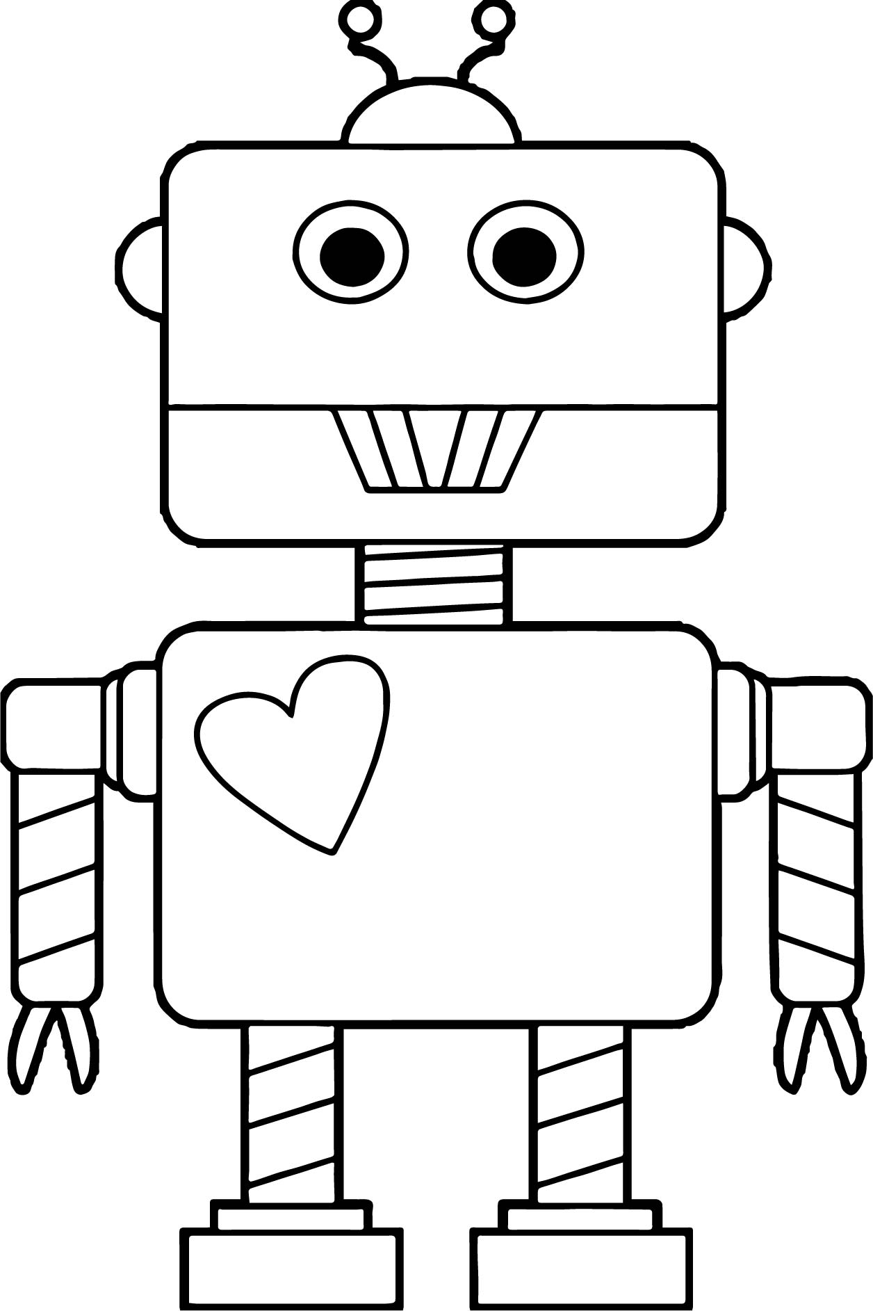 Robot Coloring Pages | Free download on ClipArtMag