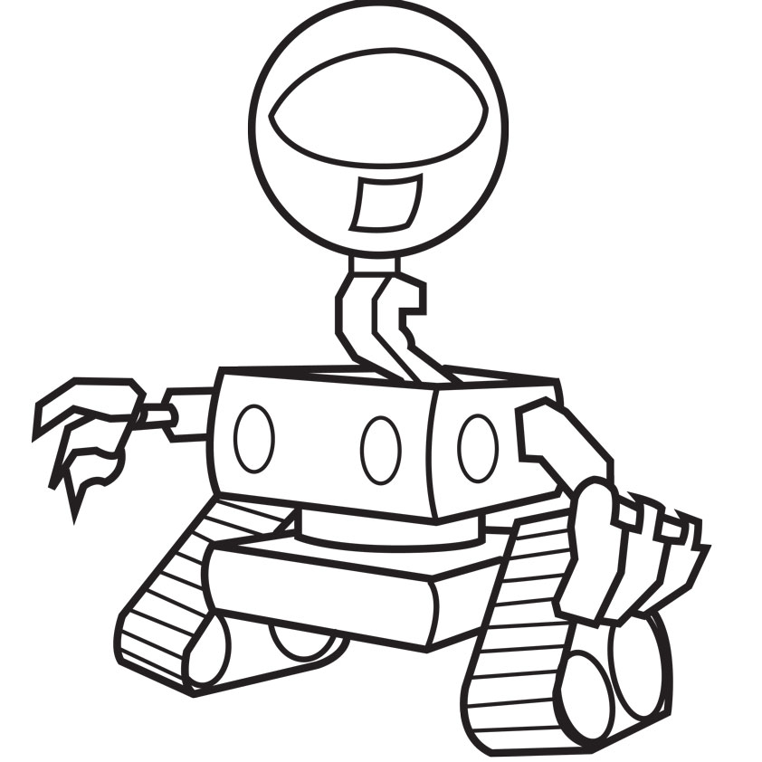 842x842 Robot Movie Coloring Sketch Free