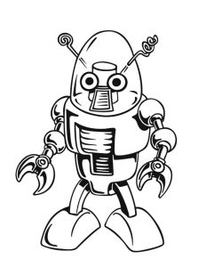 232x300 Robot Coloring Pages Funnycrafts