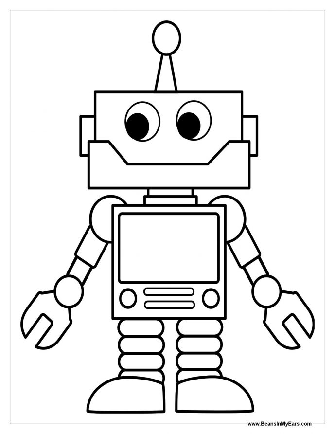 689x892 Coloring Page Winsome Robot Coloring Pages 2 Page Robot Coloring
