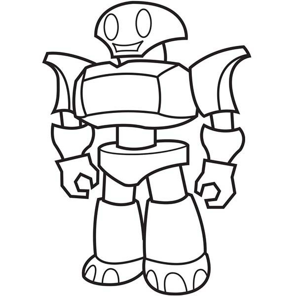 600x600 Robot Coloring Pages Printable