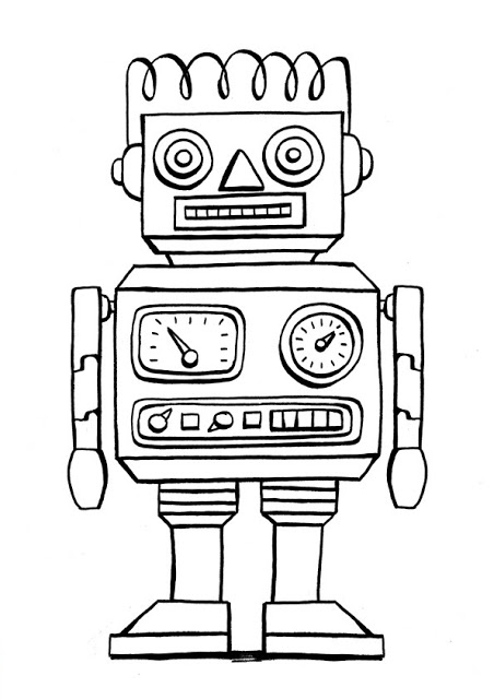 452x640 Robot Coloring Pages Free Robots Coloring Pages (4) Coloring