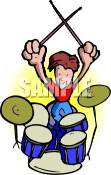 223x350 Drummer In A Rock Band With Drum Set