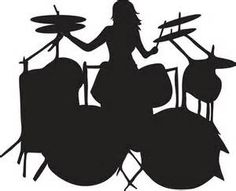 236x191 Silhouette Of Drummer Playing The Drum Kit Rock And Roll Bat