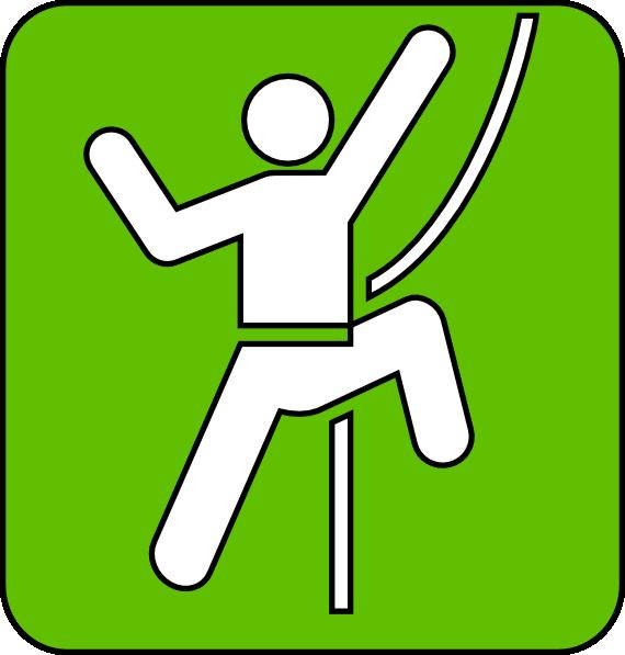570x597 Rock Climbing Symbol Green Clip Art