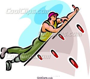 300x263 Indoor Rock Climber Vector Clip Art