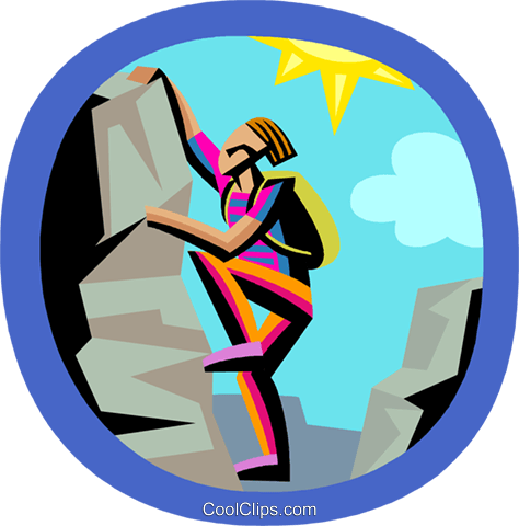 474x480 Rock Climbing Royalty Free Vector Clip Art Illustration Vc002560