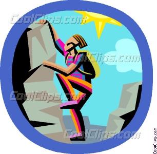 306x300 Rock Climbing Vector Clip Art