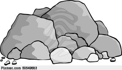 400x230 Rock Clipart