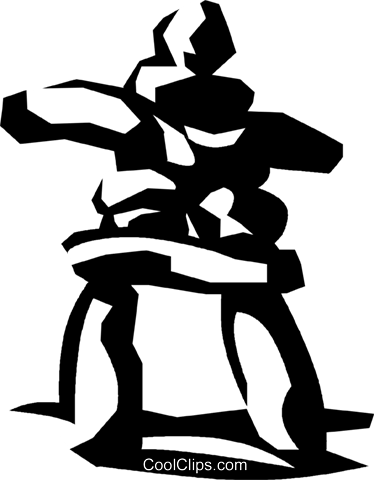 374x480 Inuit Rock Symbol Royalty Free Vector Clip Art Illustration