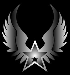 279x299 Rock Star Black Star Clip Art