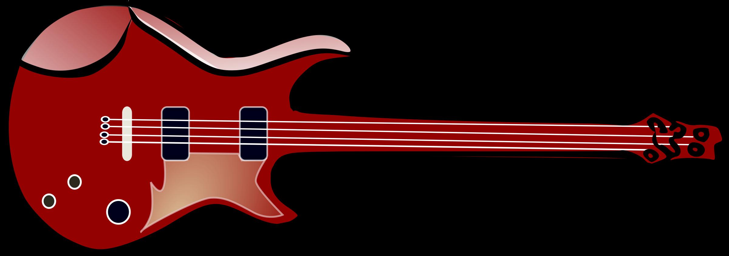 2400x846 Electric guitar clip art free clipart images 2