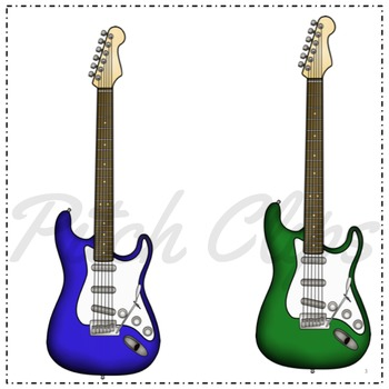 350x350 Electric Guitar Clipart (Cl By Pitch Clips Teachers Pay Teachers