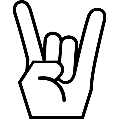 400x400 Rock N Roll Sign Hand Transparent Png