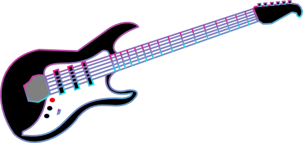 600x284 Rock Guitar Clipart