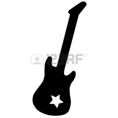 450x450 Rock Star Guitar Clipart