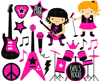 340x270 Rock Guitar Clipart Etsy