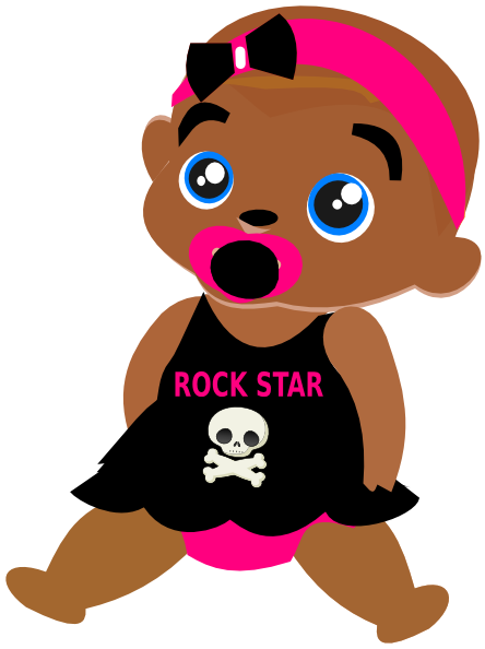 444x594 Rock Star Baby Clip Art