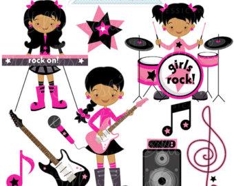 340x270 Rock Star Diva Clip Art