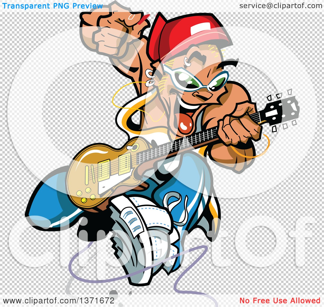 1080x1024 Clipart Of A Wild Crazy Band Guitarist Rock Star