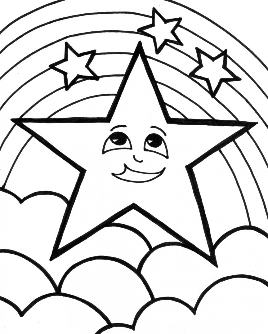 940x1170 Manificent Design Coloring Pages Of Stars Shooting Star Page Clip