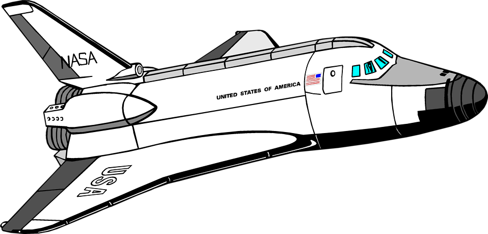 Rocket Ship Clipart Black And White | Free download on ...