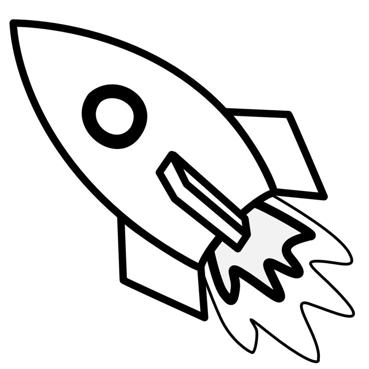 Rocket Ship Drawing