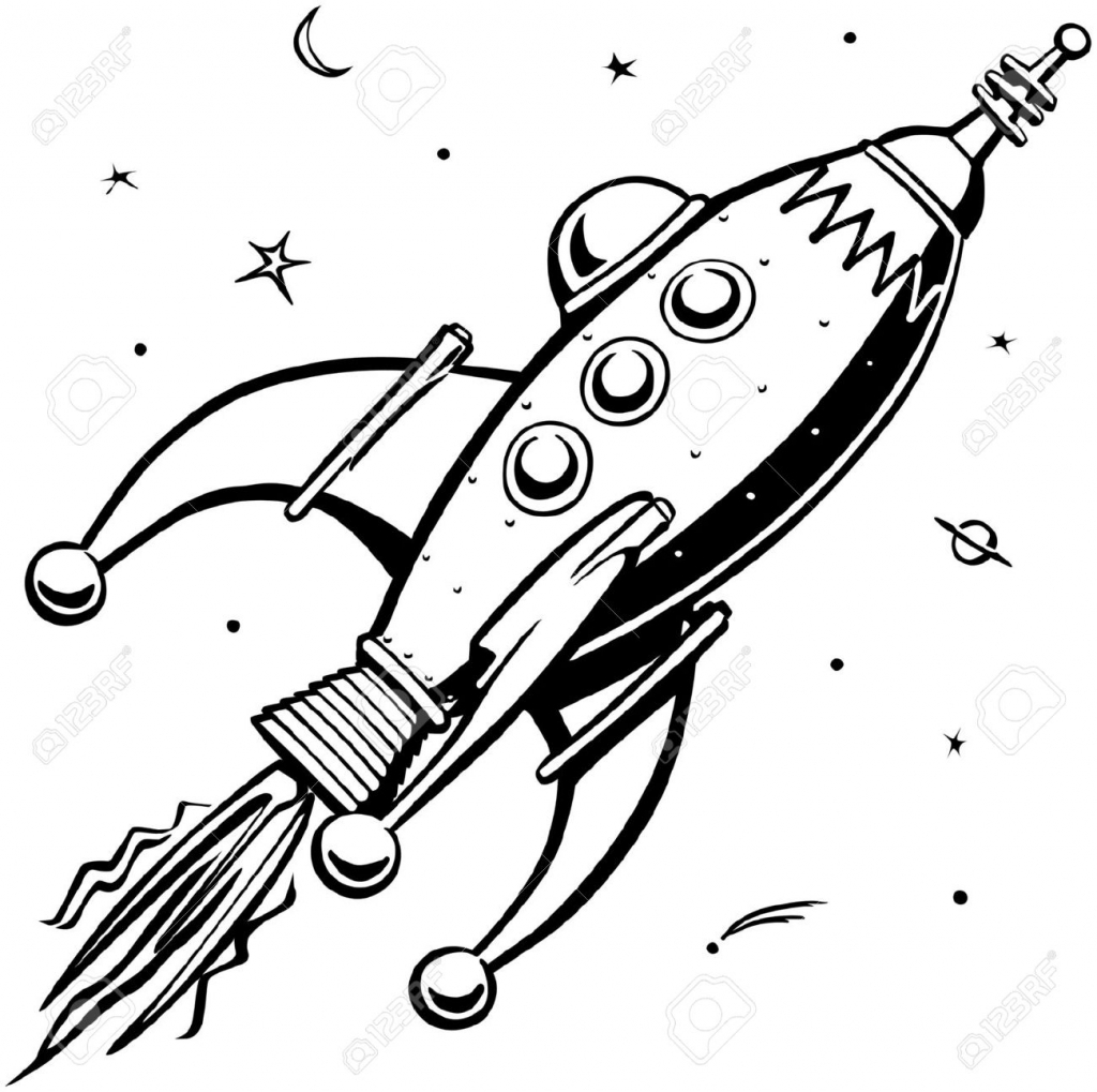 It's just a graphic of Punchy Drawing A Rocket Ship