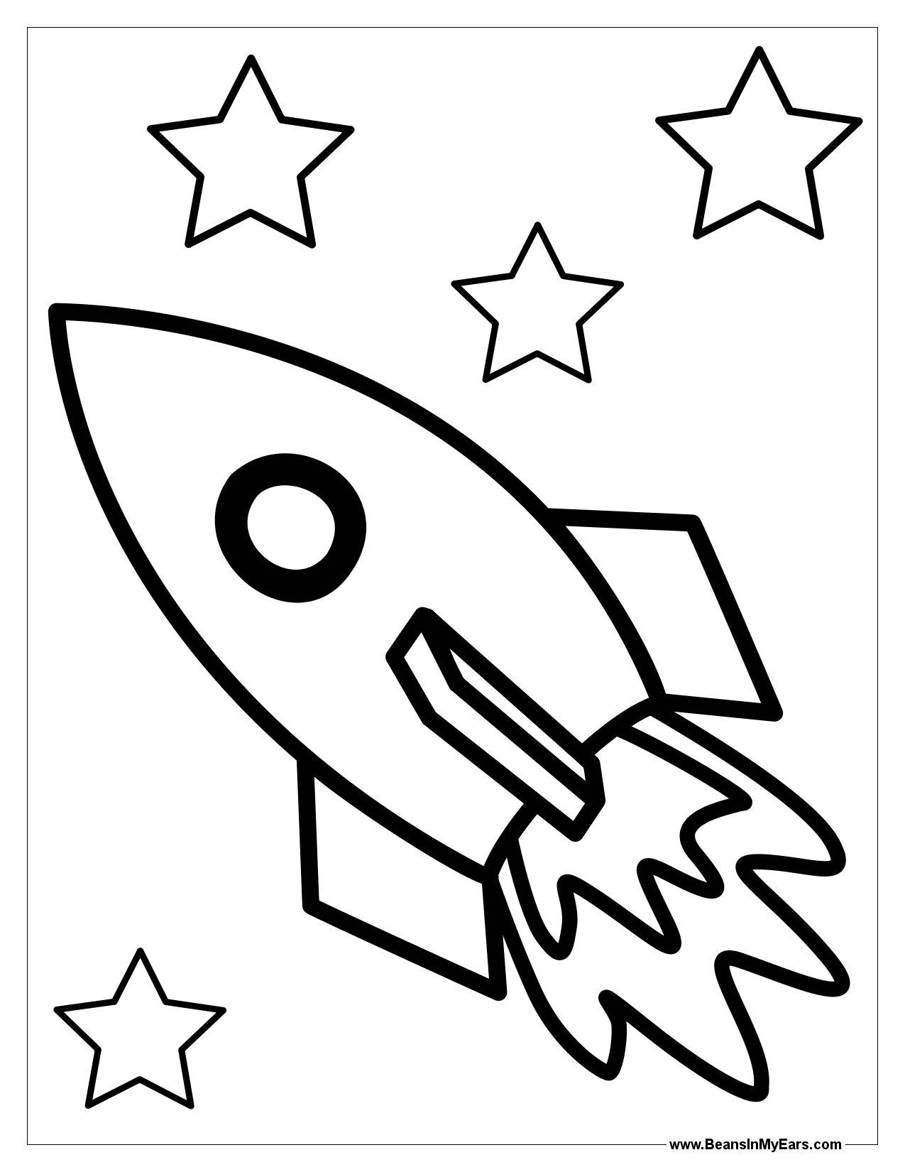 Rocket Ship Outline | Free download on ClipArtMag