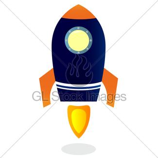 325x325 Cartoon Rocket Ship Gl Stock Images