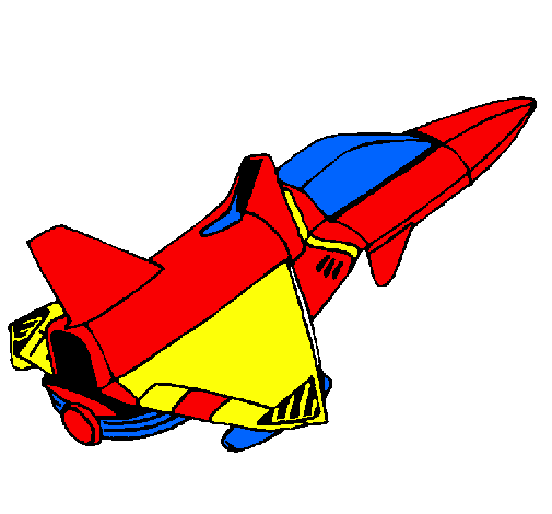 505x470 Colored Page Rocket Ship Painted By Adrian