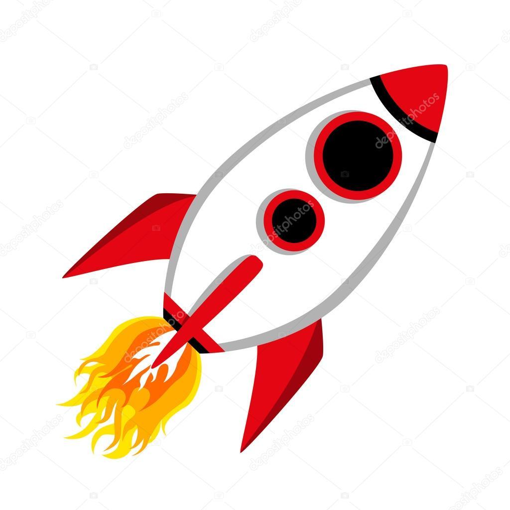 1024x1024 Comic Rocket Ship Stock Vector Ferdiperdozniy