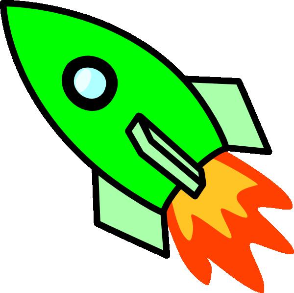 600x597 Green Rocket Clip Art