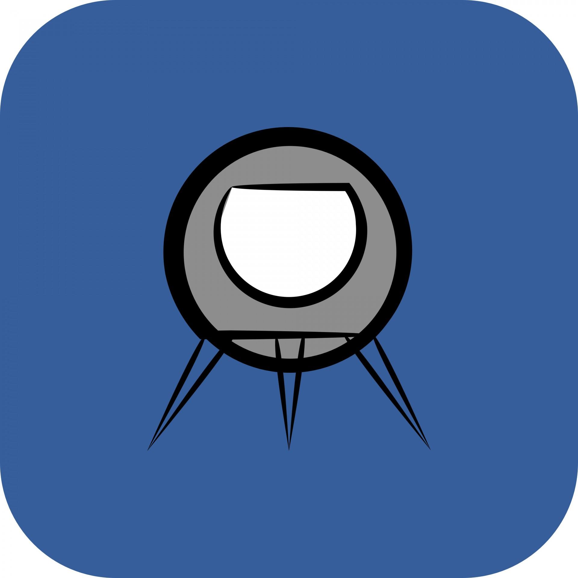 1920x1920 Rocket Ship App Icon Free Stock Photo