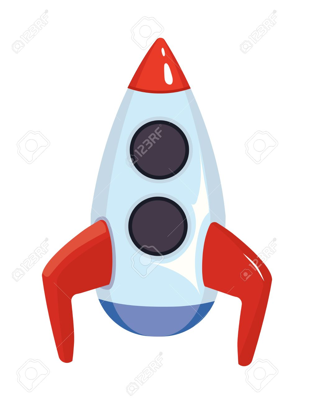 1011x1300 Vector Cartoon Illustration Of Space Rocket Ship. Toy For Kids
