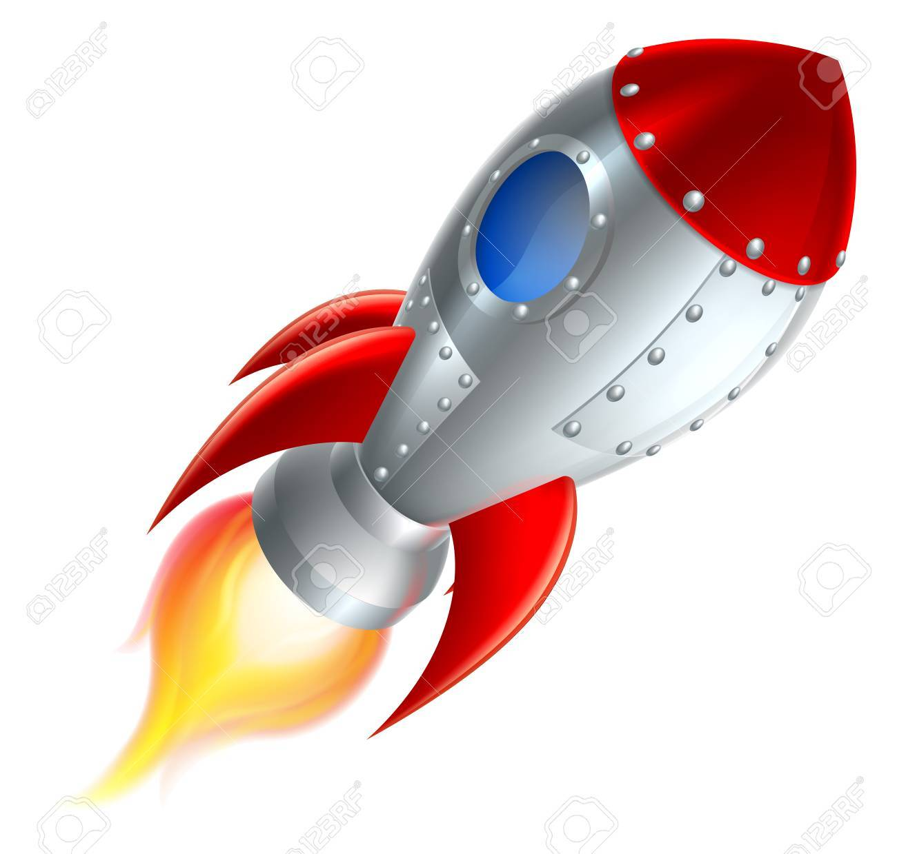 1300x1239 An Illustration Of A Cartoon Space Rocket Ship Or Space Ship